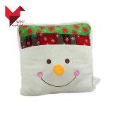 OEM Gemerkte Warme Kussen van Kerstmis van de Sneeuwman van het Stuk speelgoed van de Pluche