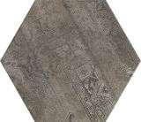 De donkergrijze Roestige Ceramiektegel van de Bloem voor Muur of Vloer
