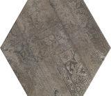 壁または床のためのダークグレーの錆ついた花の六角形のセラミックタイル