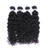 Le gondolage profonde brésilien 100 % de cheveux humains les faisceaux de Tissage de cheveux pour l'Amérique marché