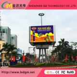 최고는 스크린 RGB 발광 다이오드 표시를 광고하는 재생율 P8 풀 컬러 LED를