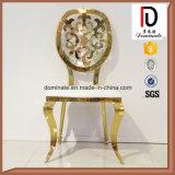 Специальные стулы гостиницы нержавеющей стали рамки золота Rose круглой задней части с задней частью цветка