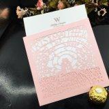 Выдолбленное-вне печатание карточки приглашения поздравительных открыток причудливый