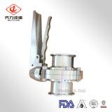Vanne papillon sanitaire de traitement d'acier inoxydable (bride/soudure/amorçage de comité technique 304/316L)
