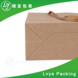 Plegable crear las bolsas de papel de Kraft para requisitos particulares con precio de fábrica