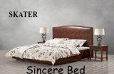 A10 미국식 침실 직물 침대 가죽 침대