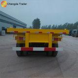 中国40FTの容器のトレーラーの平面容器のトレーラー