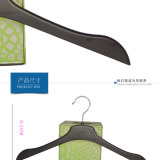 Plastic Black Flat Thin Hanger for Shirts