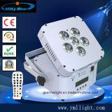 Свадьбу этап промыть лампа 6X18W 6в1 плоской DMX Беспроводной светодиодный PAR Uplight с питанием от батареи