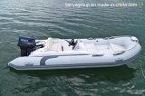 Bateau gonflable rigide de fibre de verre de constructeurs de bateau de côte de Liya 14feet