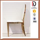 Aço inoxidável da forma moderna que janta a cadeira