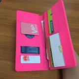 Bourse rose de couleur de silicones avec l'impression pour le femme