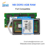 가득 차있는 호환성 휴대용 퍼스널 컴퓨터 DDR3 4GB 램 기억 장치