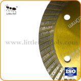 "4,5"" 114mm continue fritté Rim lame Turbo Diamond pour le Granite de lame de scie"