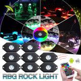 도로 Worklights 8 깍지 헤드라이트 다색 네온 LED 가벼운 RGB 자동 LED 헤드라이트 떨어져