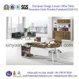 호두와 백색 색깔 멜라민 가구 사무실 책상 (BF-025#)