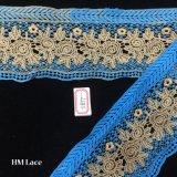 nastro ricamato dorato blu spesso largo del merletto di 10cm per il vestito di maternità, vestito Hme877 dall'acquazzone di bambino