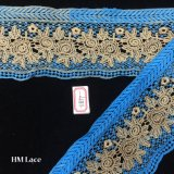 fita bordada dourada azul grossa larga do laço de 10cm para o vestido de maternidade, vestido Hme877 do chuveiro de bebê