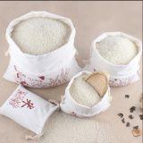 Sacchetto naturale di Drawtring del cotone & sacchetto dell'imballaggio del riso della tela di canapa con il marchio su ordinazione