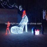 Lichten van Kerstmis van de LEIDENE Hoge tonen de Gehielde LEIDENE van Schoenen Lichten van de Decoratie