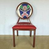 Grano de madera de aluminio moderno que cena la silla para el hotel del restaurante (JY-R80)