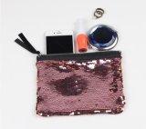 La moneda cosmética de los cequis del brillo del bolso del cequi de embrague del bolso de la sirena del cequi del monedero de la sirena de los bolsos más nuevos del maquillaje empaqueta la bolsa de la manera