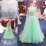 2018人の薄緑の薄い女性方法パーティー向きのドレスのイブニング・ドレス