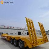 Tri des essieux col de cygne 40Heavy Duty tonnes faible lit semi-remorque