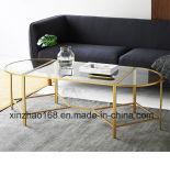 유리제 소파 테이블 커피용 탁자를 부드럽게 하는 황금 색깔
