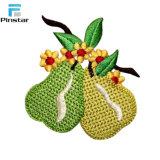 Frutas Pêssego costurar sobre patches bordadas por grosso
