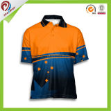 Frauenmens-neues laufendes kundenspezifisches Sublimation-Sport-Polo-Großhandelshemd
