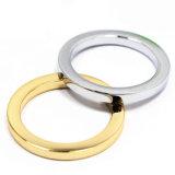 A curvatura redonda do anel da liga quente do zinco do metal da venda para o saco parte os acessórios dos bens do couro de sapatas da curvatura de correia (YK909)