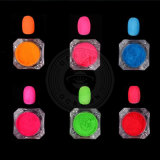 Neonnagel-Kunst-Pigmente für Halloween-Nagel-Gel-Polnisches