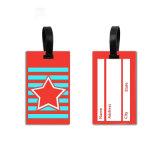 Fabricant Logo personnalisé imperméable en plastique à base de silicone de dessins animés en 3D Luggage Tag pour les voyages et le nom de balise Tag