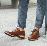 Bow Mens Brown Suede Penny mocasines mocasines zapatos masculinos barco