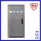 Puerta exterior de la seguridad del acero blanco de la seguridad para la puerta interior