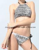 Wholsale Form Blumereizvoller Halter-Bikini-Badebekleidungs-Fabrik-Frauen-Bikini