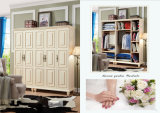 Los muebles modernos de los diseños simples de la pared del dormitorio del estilo fáciles ensamblan el guardarropa de vestido de madera del armario