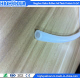 Boyau de silicones de catégorie comestible de FDA, boyau semi-transparent de silicones de tresse de fibre