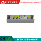 электропитание переключения 24V 60W тонкое СИД для светлой коробки