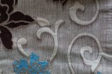 Tissu de sofa de configuration de Chenille de polyester de fleur (fth31951)