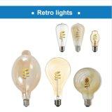 Ampoule spiralée neuve d'éclairage LED de filament de Ra90 3W 250lm St19 rétro