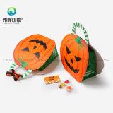 Rectángulo de empaquetado de papel portable del caramelo de la calabaza con la maneta