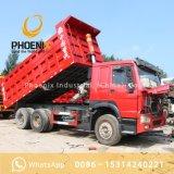 Gebruikte Vrachtwagens 10 van Sinotruk HOWO de Goede Voorwaarde van de Vrachtwagen van de Stortplaats van de Kipper van Wielen 6X4 voor Afrika