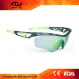 Dropshippingのセリウムの青いコーティングのスポーツのサングラスを循環させる反紫外線高い視野の人のサングラス