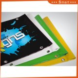 Im Freienbekanntmachenkundenspezifische Firmenzeichen-Drucken Belüftung-Vinylfahne mit Tüllen