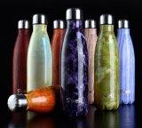 Индивидуальный логотип, нержавеющая сталь двойные стенки вакуумный отек бутылка воды/Спорт вакуум-колы Сублимация спортзал расширительного бачка со стальной крышкой