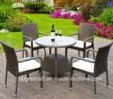 セットを食事する4/6 Seatersの総合的な藤の屋外の庭の家具