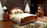 0029 이탈리아 왕 나무로 되는 가구 작풍 호화스러운 금관 악기 훈장 침대