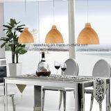 목제 색깔을%s 가진 현대 간단한 실내 점화 샹들리에 펀던트 램프